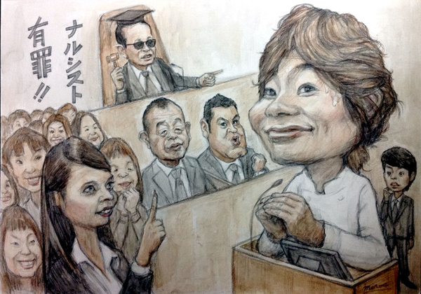 川越達也さんの似顔絵肖像画