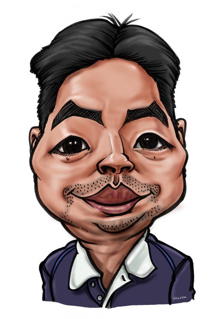 個性をかき分ける!名刺・プロフィール用のイラスト似顔絵です。