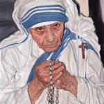 マザーテレサの似顔絵