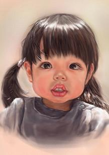 似顔絵肖像画です。