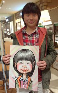 小学生5年生の女の子からユーモラスな似顔絵のご注文です!