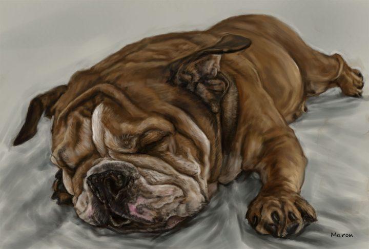 犬の似顔絵
