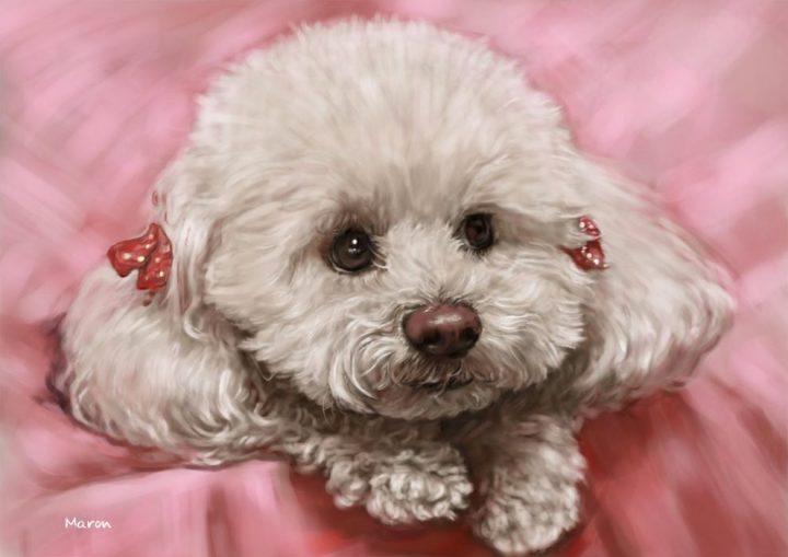 かわいい犬の似顔絵