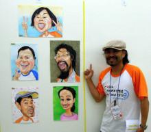 似顔絵韓国大会2013