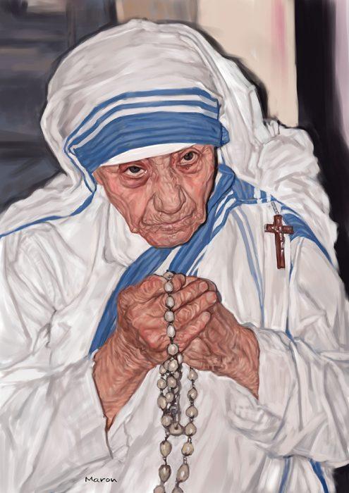 肖像画マザーテレサ