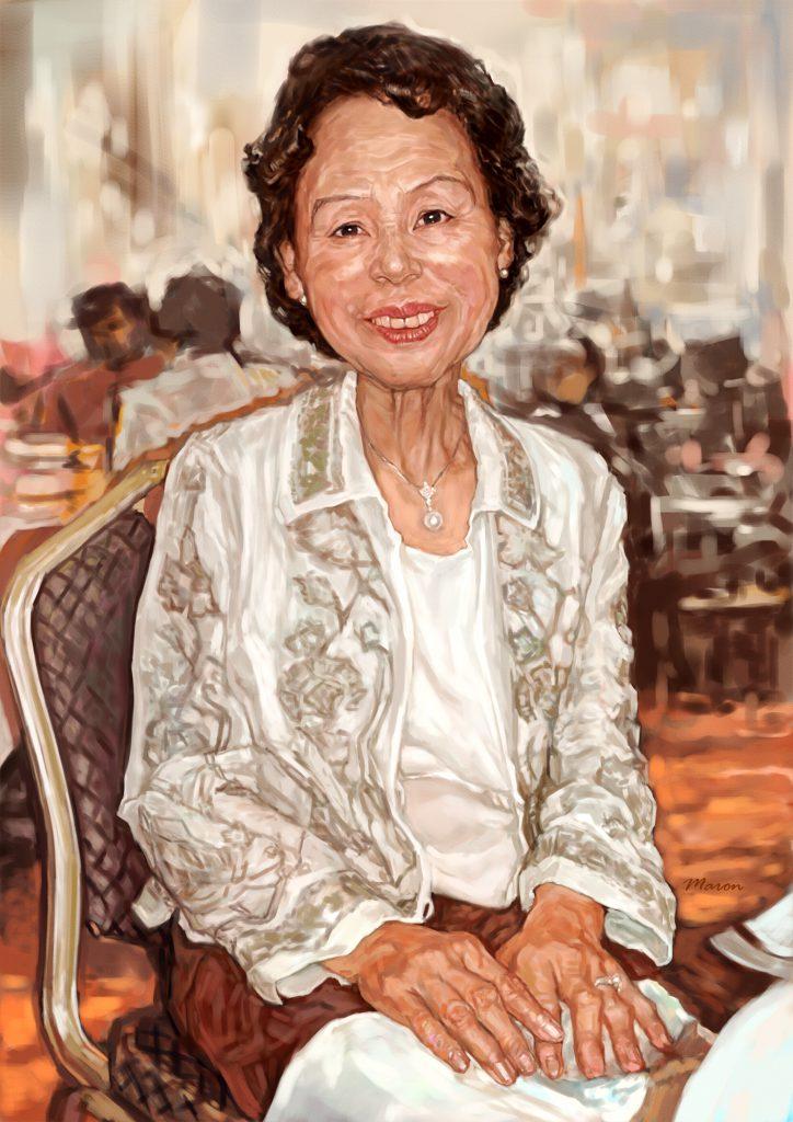 女性の似顔絵肖像画