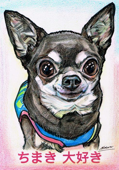 似顔絵の描き方!ペット犬似顔絵の作画行程をご紹介。
