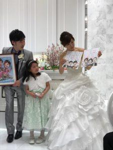 結婚式のご披露宴で、ご両親へ色紙似顔絵のサプライズプレゼントを!