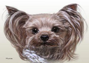 犬のリアルな似顔絵