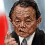 麻生太郎さんの似顔絵