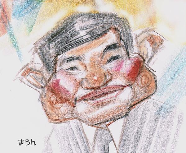 笑えるスケッチ、石破茂さんの落書き似顔絵です。