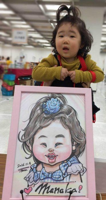 可愛い女の子の似顔絵