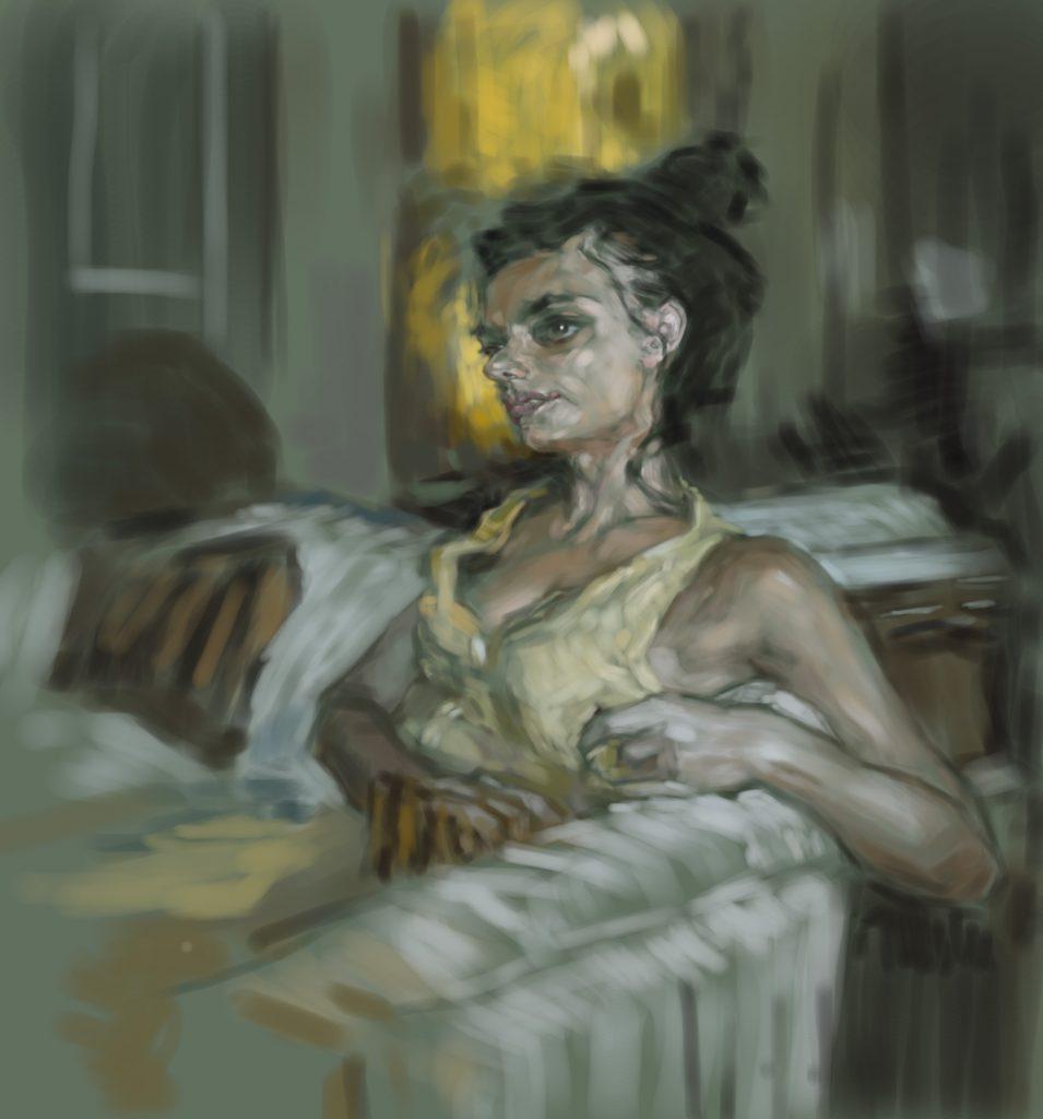 【女の感情までも表現したい】油絵の模写作品で感覚を磨く。