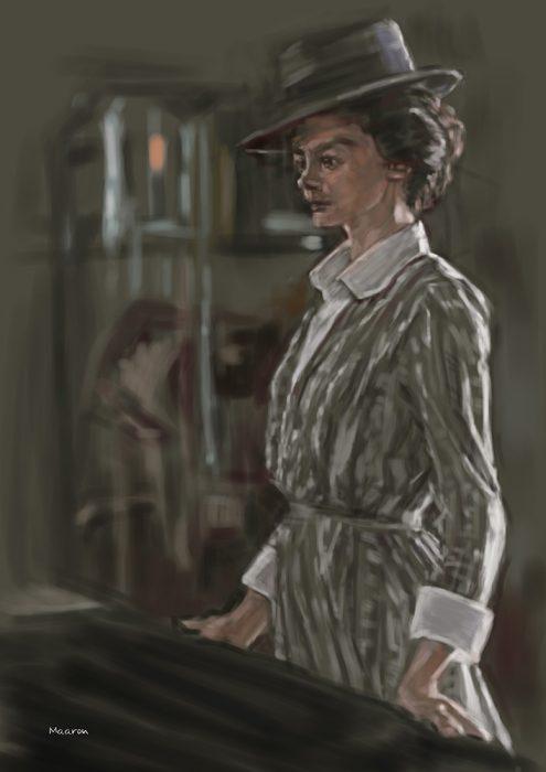 油絵の練習作品【ココ・シャネル】オドレイ・トトゥをモデルに似顔絵の習作です。