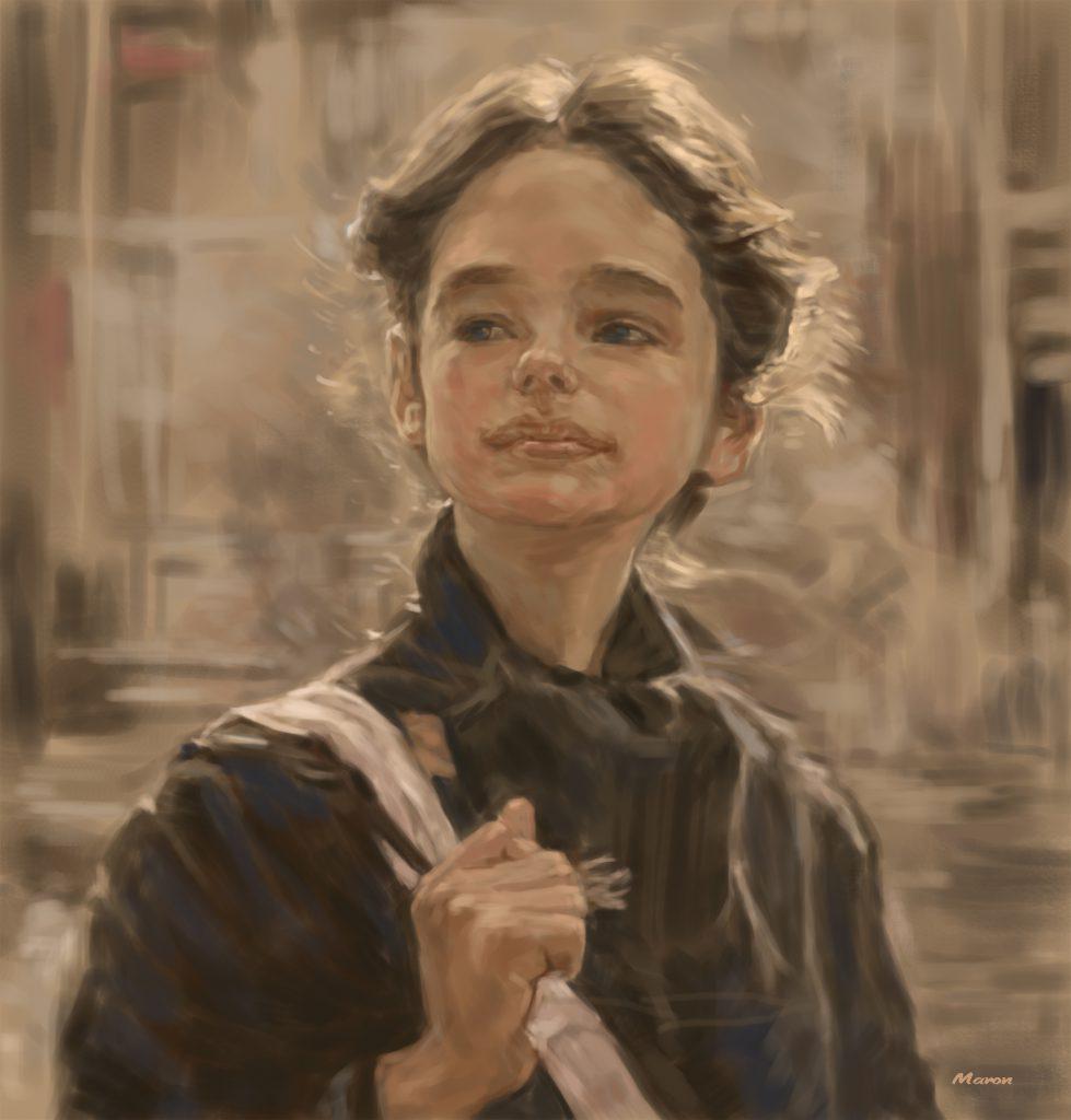 【ジェニファー・コネリー】映画をモチーフにした油絵の練習作品