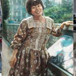 油絵肖像画例:印象派風の人物画