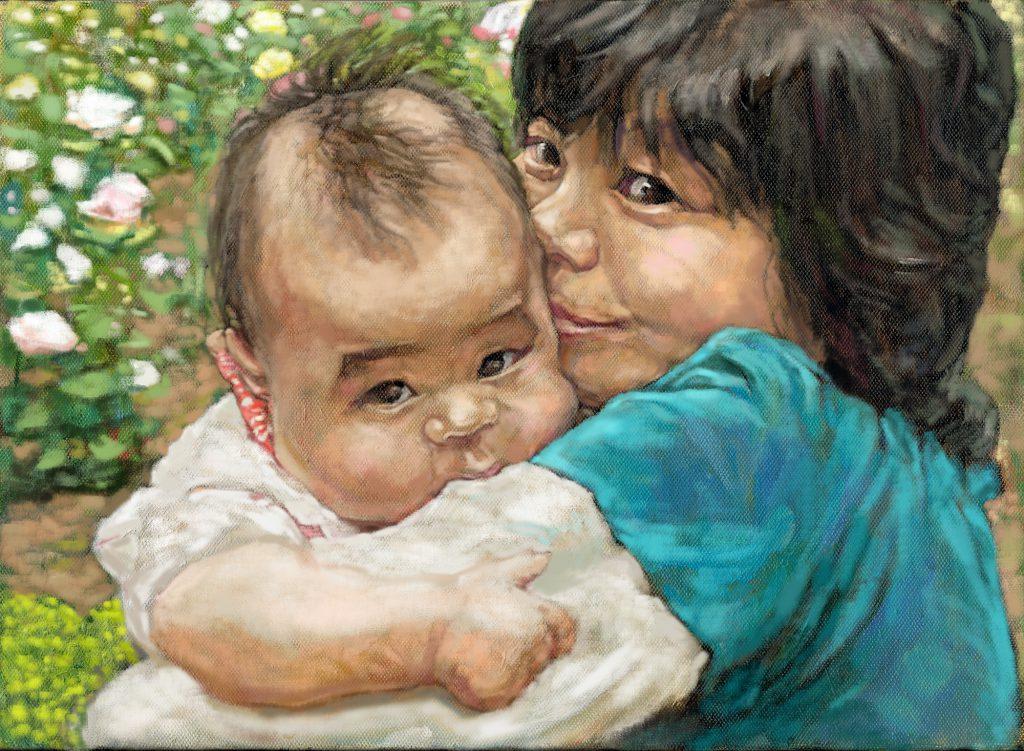 親子の肖像画