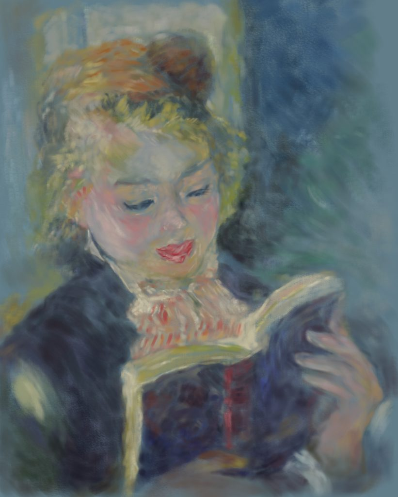 オススメの画家【模写ルノワール】油絵の練習、花木マロン作。