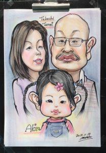 ご家族のカリカチュア似顔絵
